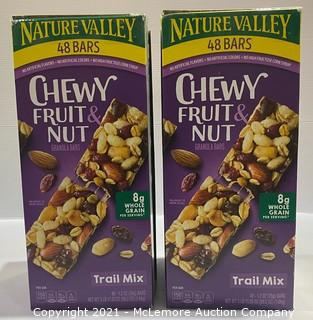 2-Pack Nature Valley Chewy Fruit 48 bars & Nut Granola Bars Trail Mix Flavor 48 bars - OPEN BOX