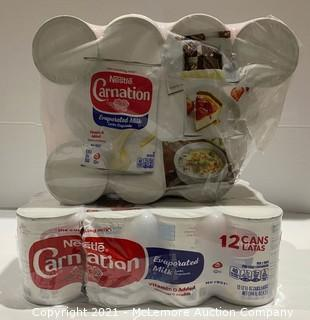 22-Count Nestle Carnation Evaporated Milk Cans - NEW