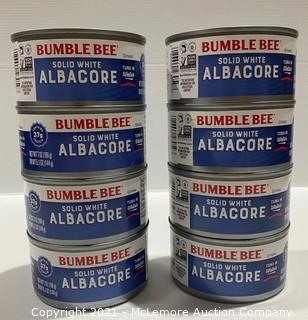 8-Count Bumble Bee Solid White Albacore Tuna in Water - NEW (no retail packaging)