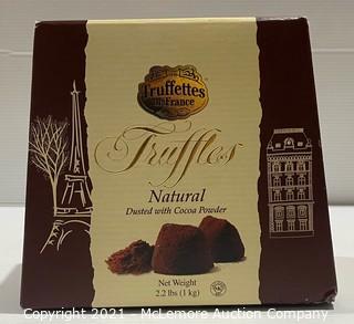 2.2lbs - Truffettes de France Natural Cocoa Truffles Dusted w/ Cocoa Powder - NEW