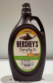 48oz! Hershey's 5 Simply Ingredients Simply 5 Genuine Chocolate Flavor Syrup - NEW
