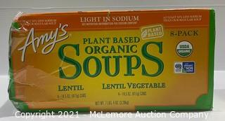 Amy's Plant Based Organic Soups Lentil & Lentil Vegetable - OPEN BOX (missing 1 can) - 7 total cans
