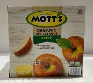 Mott's 36-Count Organic Apple Applesauce - NEW