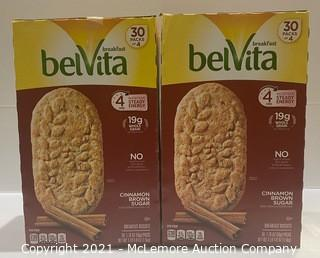 2-Pack Breakfast BelVita Blueberry - OPEN BOX - around 55 packs of 4