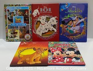 Lot of 5 Licensed Disney Children's Books - NEW - MSRP: $50