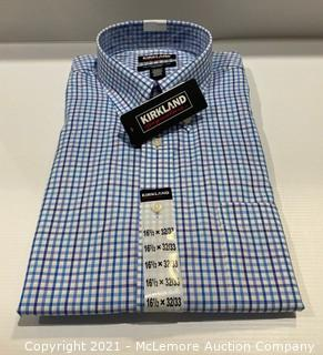 Kirkland Signature Men's Traditional Fit Non-Iron Dress Shirts - Size 16