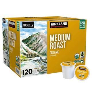 120-Count Kirkland Signature Keurig K-Cup Pods Medium Roast Organic Coffee - NEW (box may show light wear)