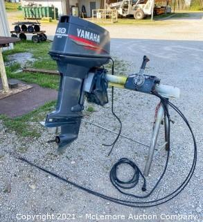 1998 50 HP Yamaha 2 Stroke Outboard / Turns Over