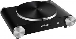 Cusimax Electric Hot Plate, Portable Stove, Countertop Single Burner, 1500W Electric Burner, CMHP-B101