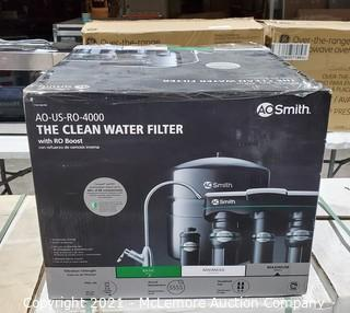 AO Smith The Clean Water Filter Reverse Osimosis Under Counter Water Filtration System