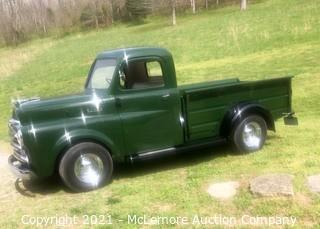 1949 Dodge Pickup, Restored to Original