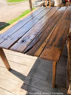 Repurposed Barn Door Table
