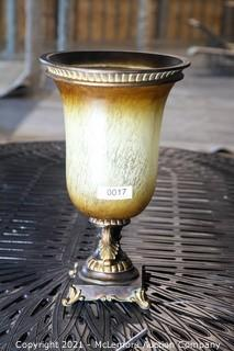 "Art Glass Lamp 18"""