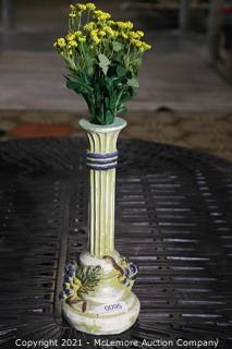 Italian Tall Vase with Artificial Flowers
