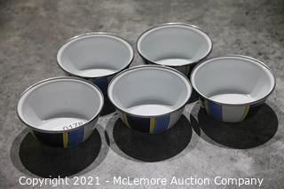 "Golden Rabbit Enamelware 6"" Bowls"