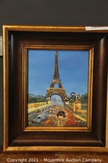 Original Oil On Canvas Paris Painting