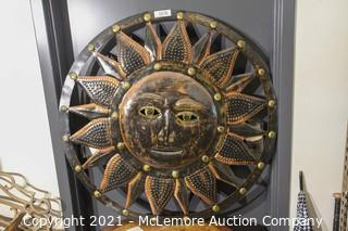 """Large Sun Outdoor Wall Decoration 36"""""""