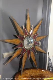 """Star with Curved Mirror Wall Decoration 38"""""""