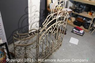 Wrought Iron Fireplace Fence - Very Heavy - 53H x 62W