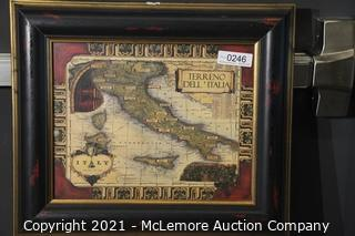 Vintage Reproduction Italy Framed Print