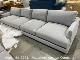 Haven Sectional, 2.5 Left arm sofa, 2.5 right arm sofa,Feather Gray,Performance Washed Canvas