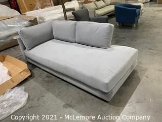 Haven Sectional Chaise,Feather Gray,Performance Washed Canvas