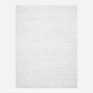 Shale Striations Rug, Light Gray, 9'x12'