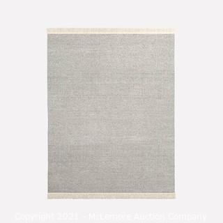 Tweed Flatweave Dhurrie, Alabaster, 5'x8'