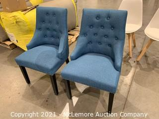 Blue Dining Chairs- Set of 2
