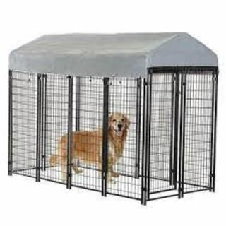 OutDoor Heavy Duty Playpen Dog Kennel w/ Roof Water-Resistant Cover