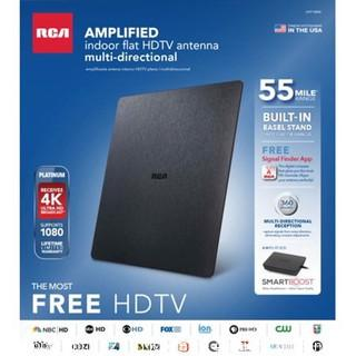 RCA SLIVR Amplified Indoor Flat HDTV Antenna, Multi-Directional