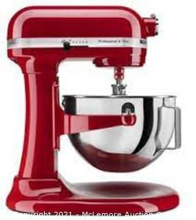 KITCHENAID Professional 5 Plus 5 Quart Bowl-Lift Stand Mixer with Baker's Bundle in Empire Red