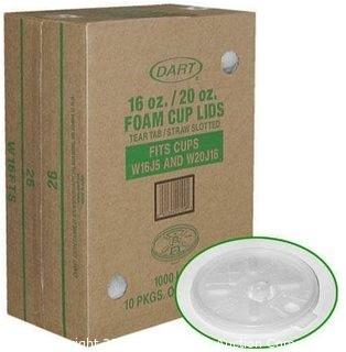 DART 16 OZ/20 OZ  FOAM CUP LIDS 900 COUNT