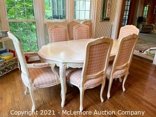 Dining Table with 8 Chairs and Extension