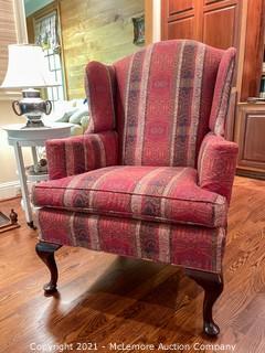 Upholstered Arm Chair with Velvet Backing