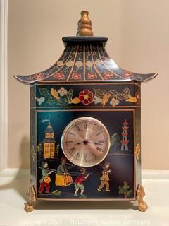 Oriental Clock with Key Storage