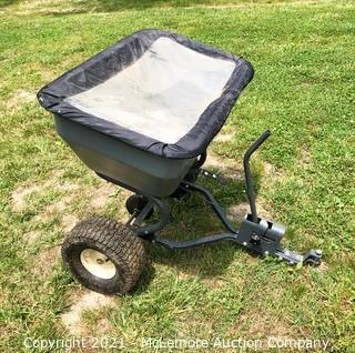 Rugid Yard Equipment System Pull Behind Ground Drive Seed/Fertilizer Spreader