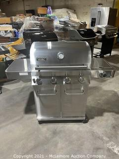 Monument 4-Burner Propane Gas Grill in Stainless Steel with LED Controls and Side Burner - MSRP $349.99