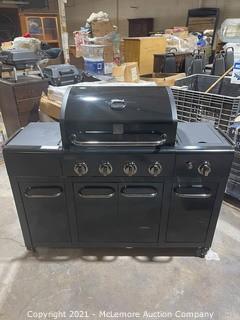 Kenmore Two Tone Black On Black 4-Burner Liquid Propane Gas Grill with 1 Side Burner - MSRP $399.99