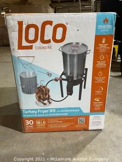 Loco Cookers 30 Quart Propane Boil, Fry & Steam Kit