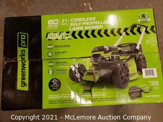 Greenworks Pro 60-Volt Max Brushless Lithium Ion Self-Propelled 21-in Cordless Electric Lawn Mower - MSRP $499.99