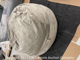 The BIGGEST ONE Slipcover - Taupe Padded Velvet- 100% Polyester, Machine Washable