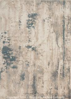 Nourison Maxell Grey Area Rug - NOR-MAE17-Ivory-Teal