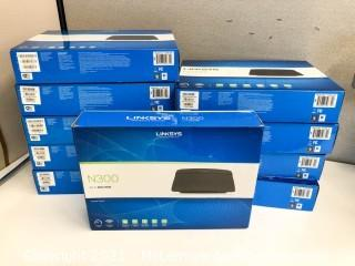 (10) Linksys N300 Wi-Fi Routers E1200
