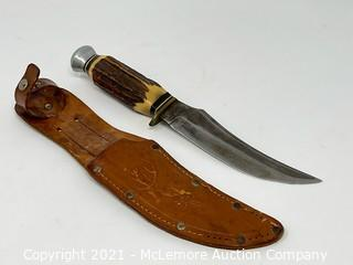 E.C. Solingen Fixed Blade Knife with Bone Handle