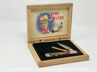 "John Wayne ""The Duke"" Limited Edition Pocket Knife with Shaving Blade"