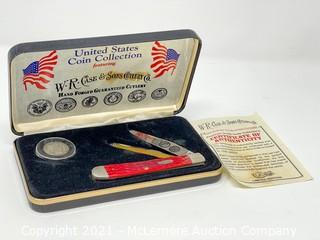 Case Pocket Knife with 1909 Liberty Head Quarter