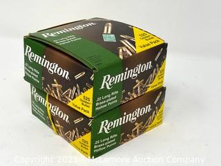 Remington .22 LR Brass-Plated Hollow Point Rim Fire Cartridges