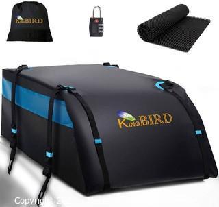 KING BIRD 100% Waterproof Roof Cargo Carrier Bag with Non-Slip Mat