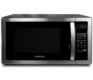 Farberware Classic 1.1 cu. ft. 1000W Microwave Oven Stainless Steel/Black